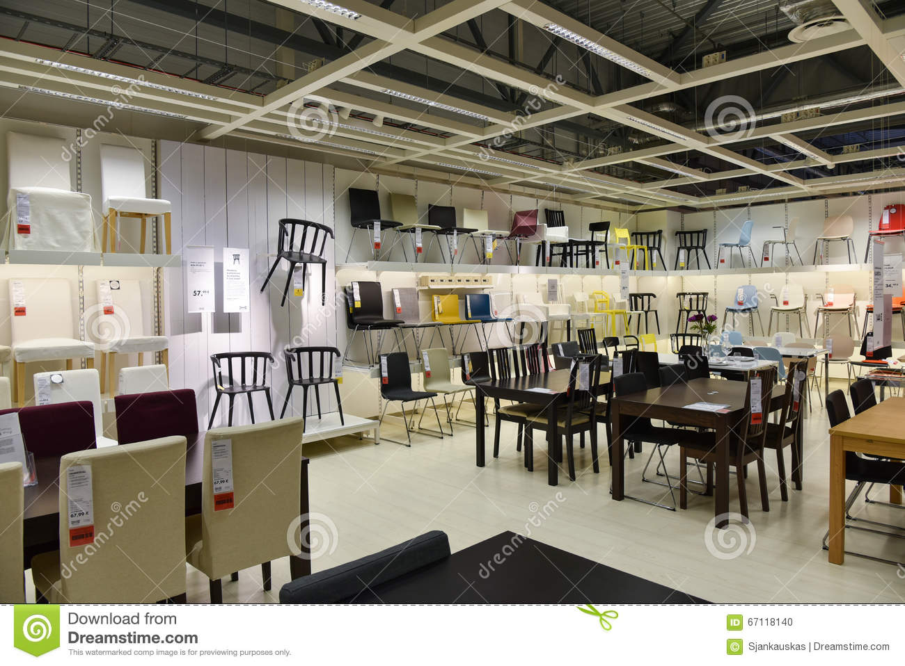office tables and chairs in hyderabad bedroom chair sydney ikea furniture store editorial image of accessories