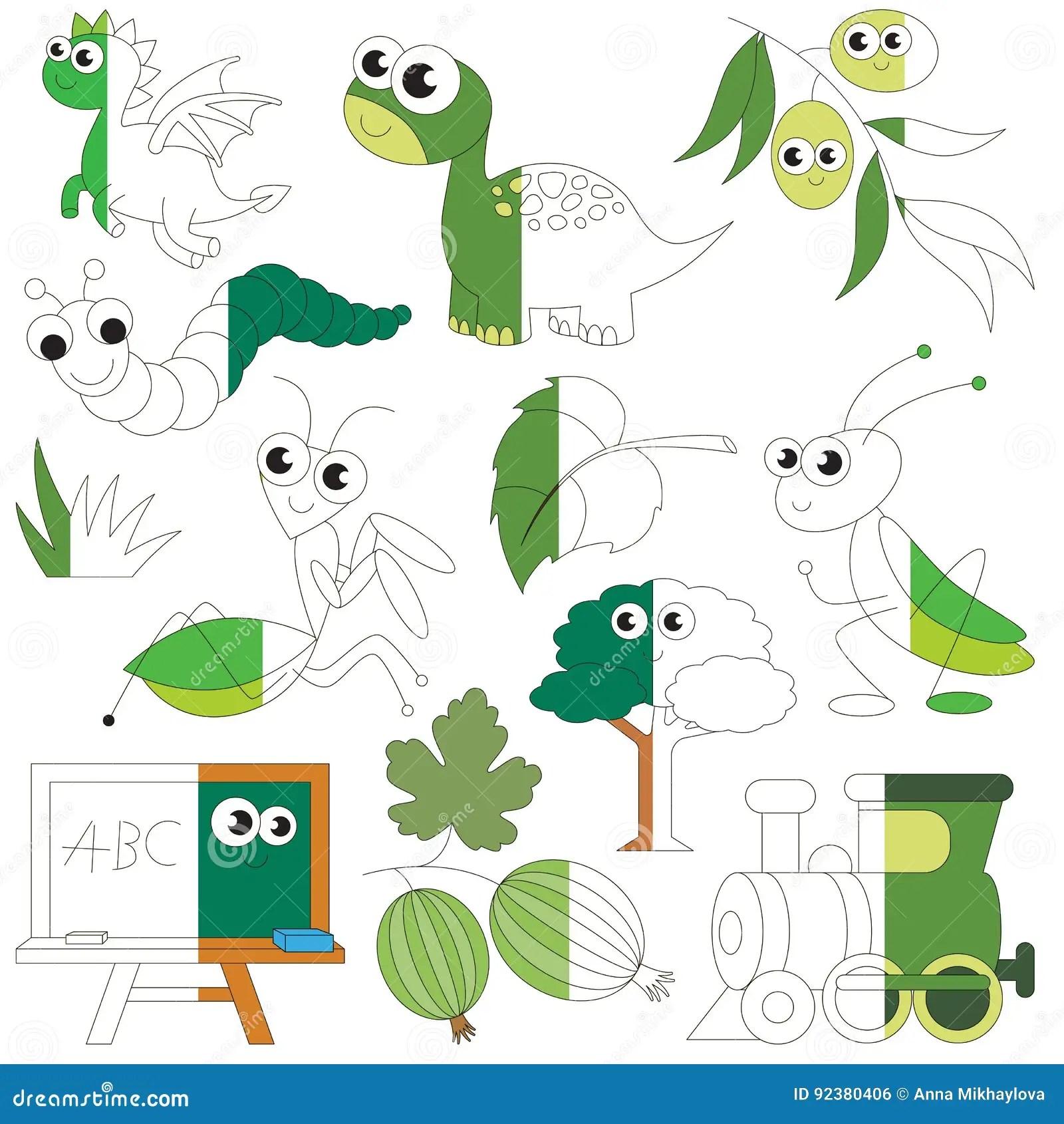 Il Colore Verde Obietta Il Grande Gioco Del Bambino Da