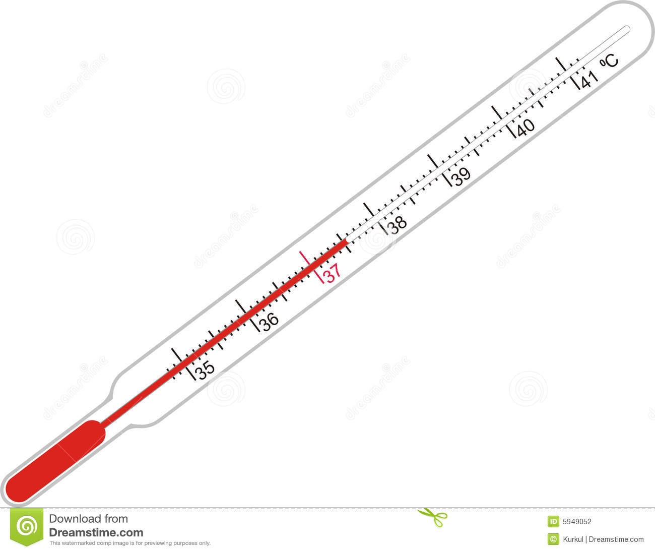 Illness And Thermometer Stock Photography