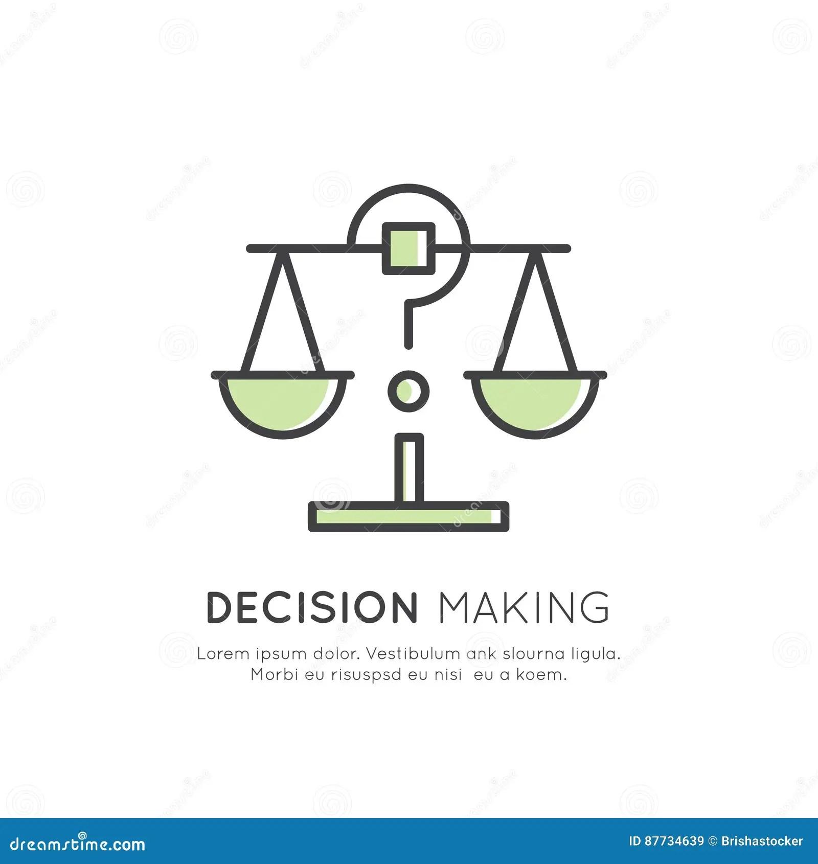 Illustration Of Analytics, Management, Business Thinking