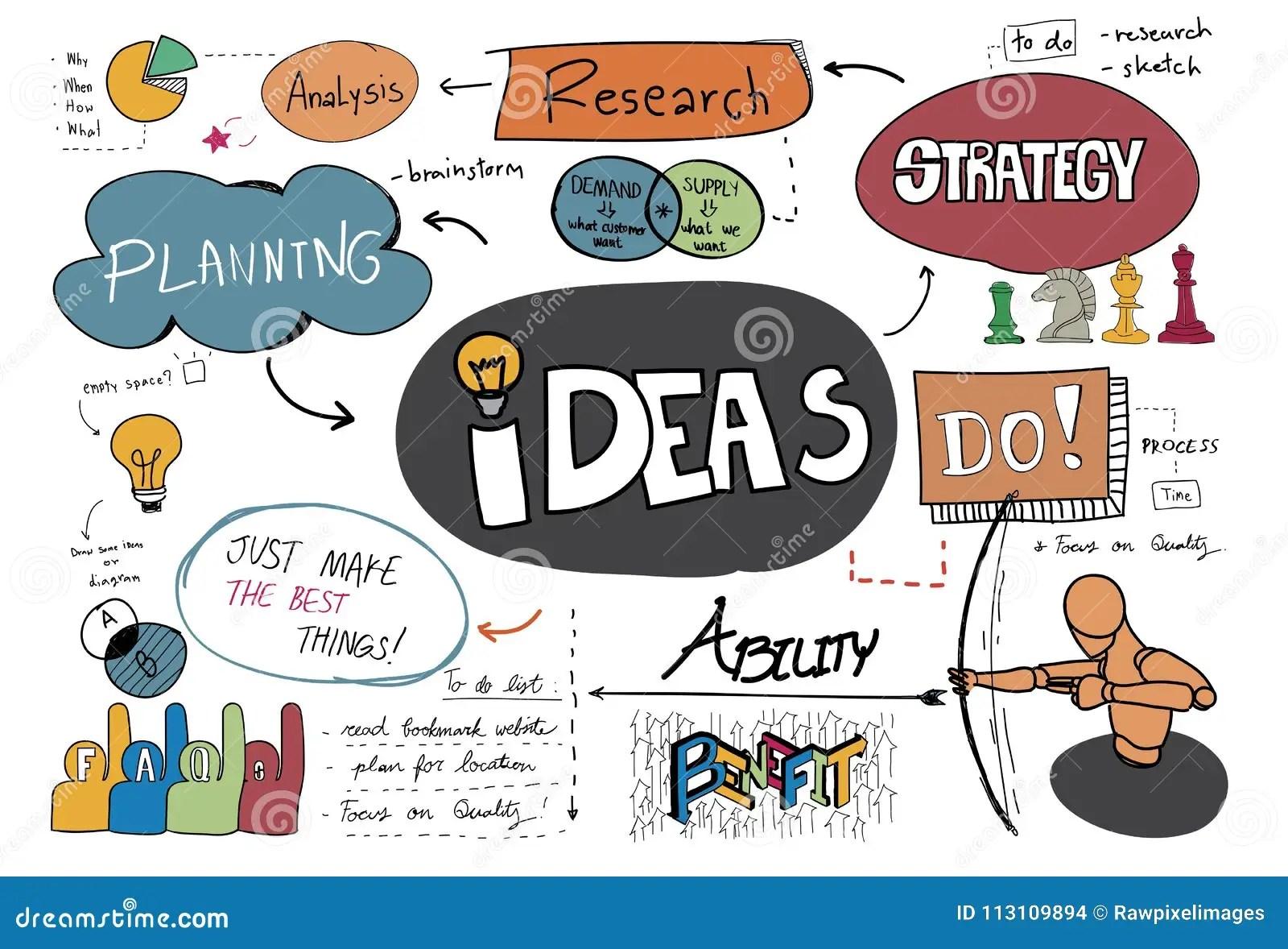 Illustration Of Brainstorming Ideas Concept Stock