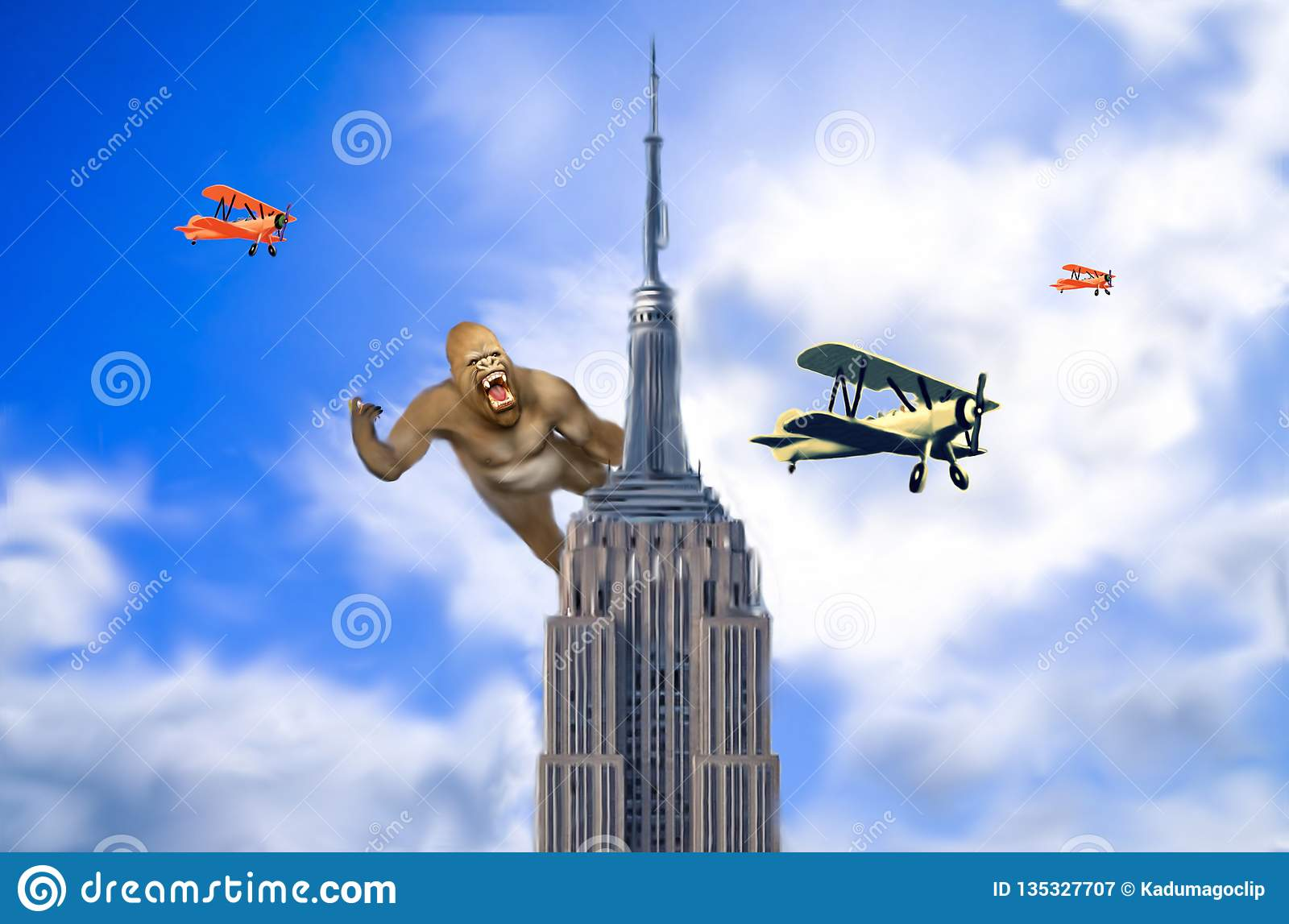 King Kong In Empire State Building Stock Image