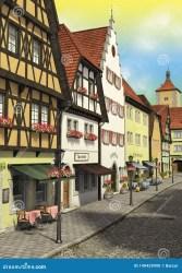 Daytime fantasy town stock illustration Illustration of medieval 149429990