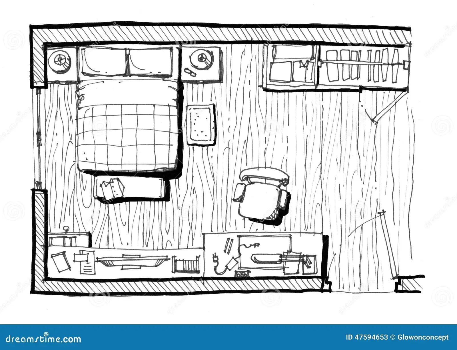 Illustration De Disposition De Chambre A Coucher