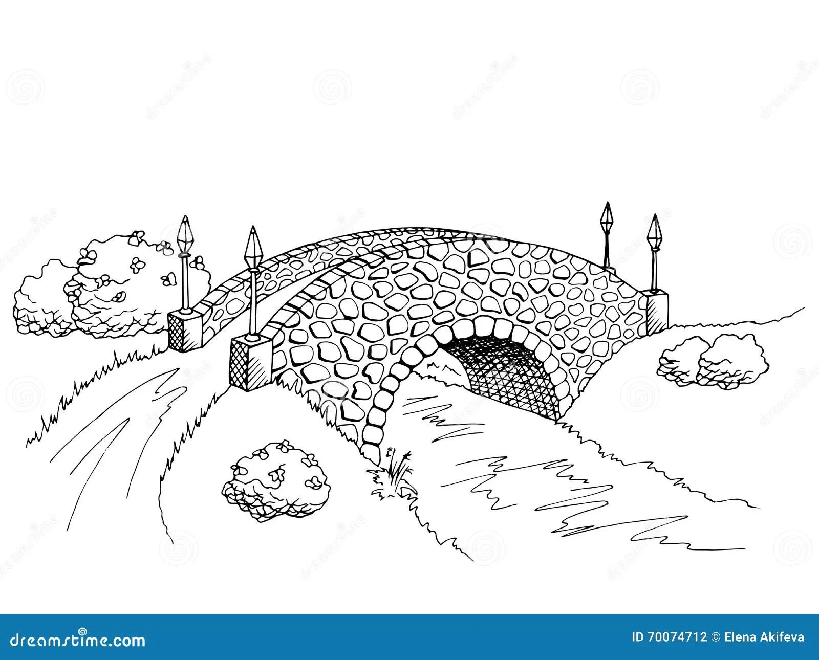 Illustration De Paysage De White River De Noir De L