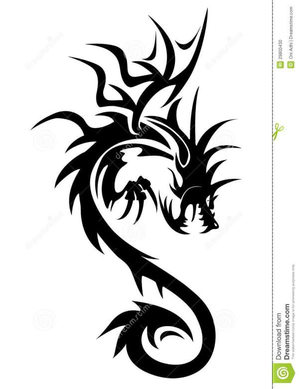 White Dragon Symbol