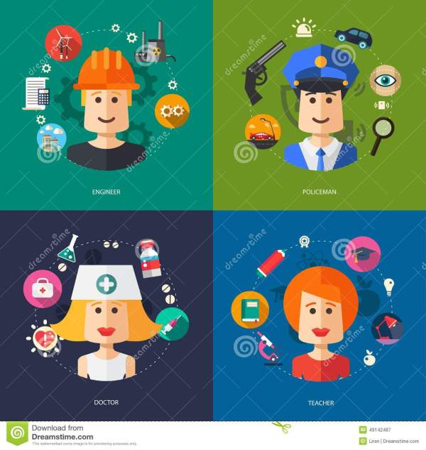 Illustration Of Flat Design Business Illustrations Stock