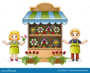 flower boy florist cartoon illustration vector preview