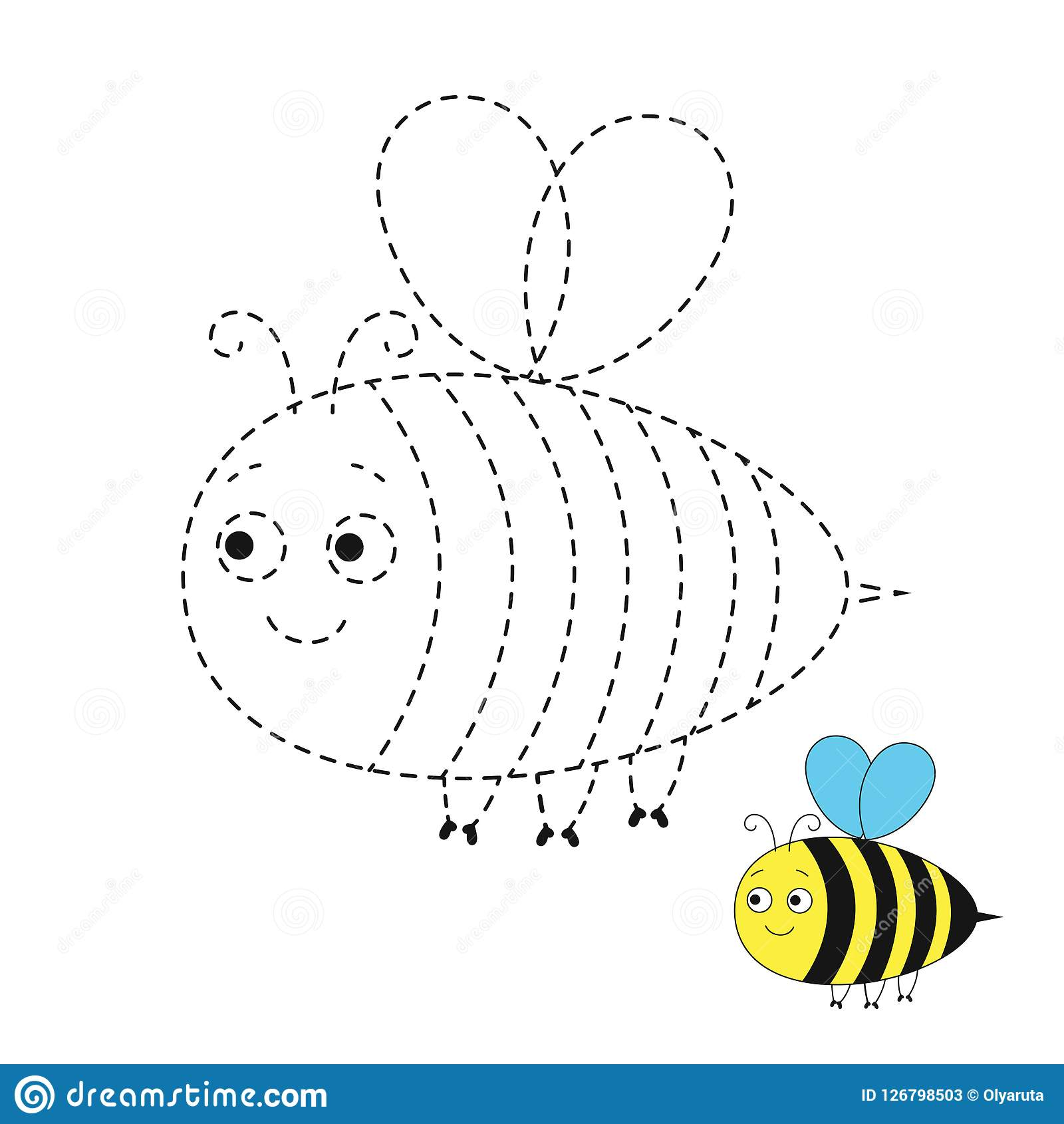 Illustration Of Funny Bee For Toddlers Stock Vector