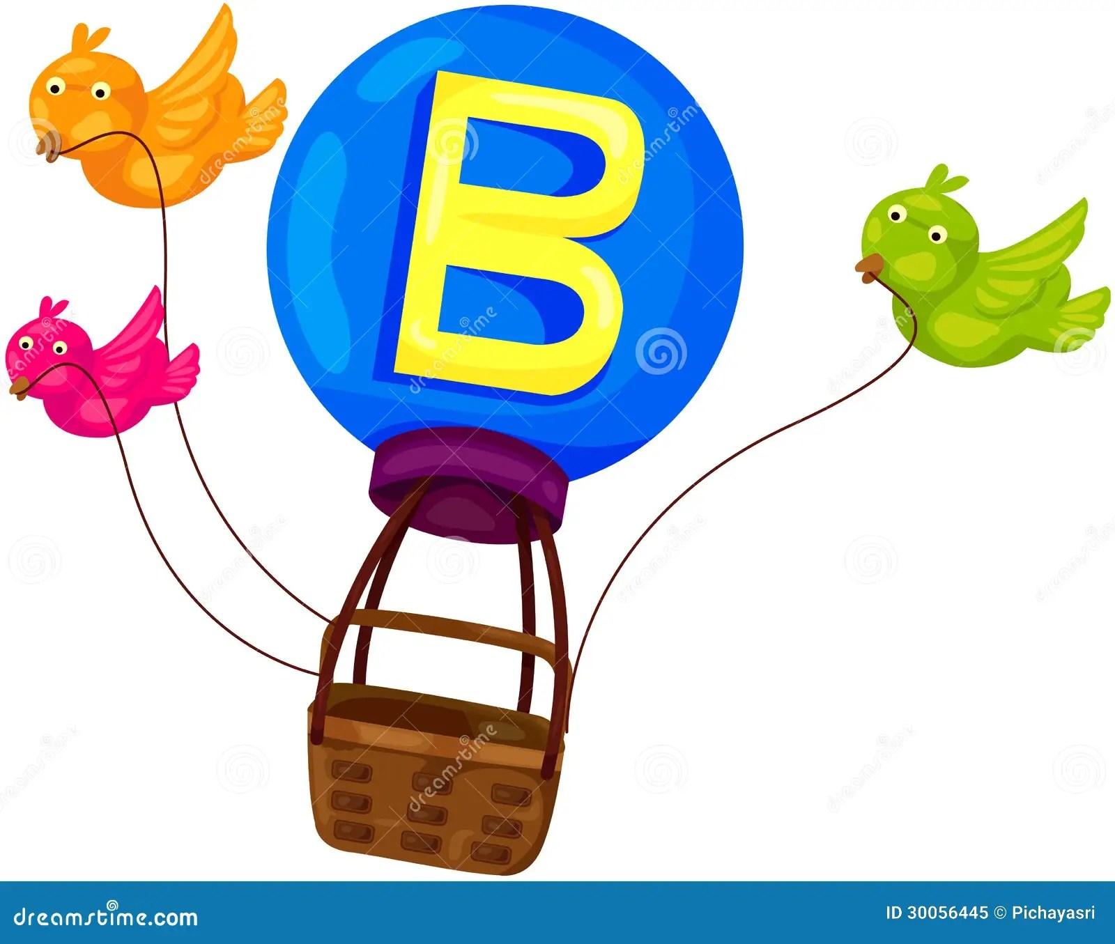 Alphabet B For Bird Stock Vector Illustration Of Child