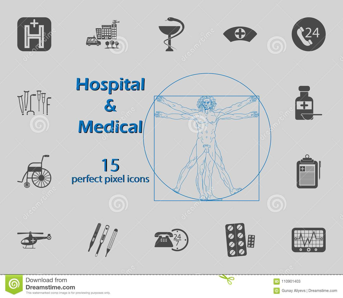 hight resolution of illustration of 15 medical and hospital icons premium quality graphic design signs and