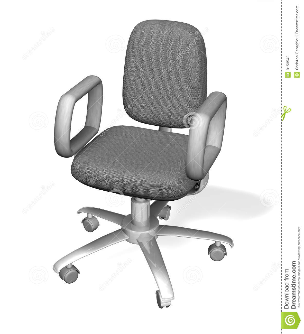 office chair illustration hanging rail of an stock photo image 8153540