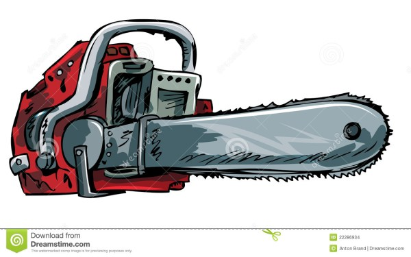 illustration of chainsaw stock