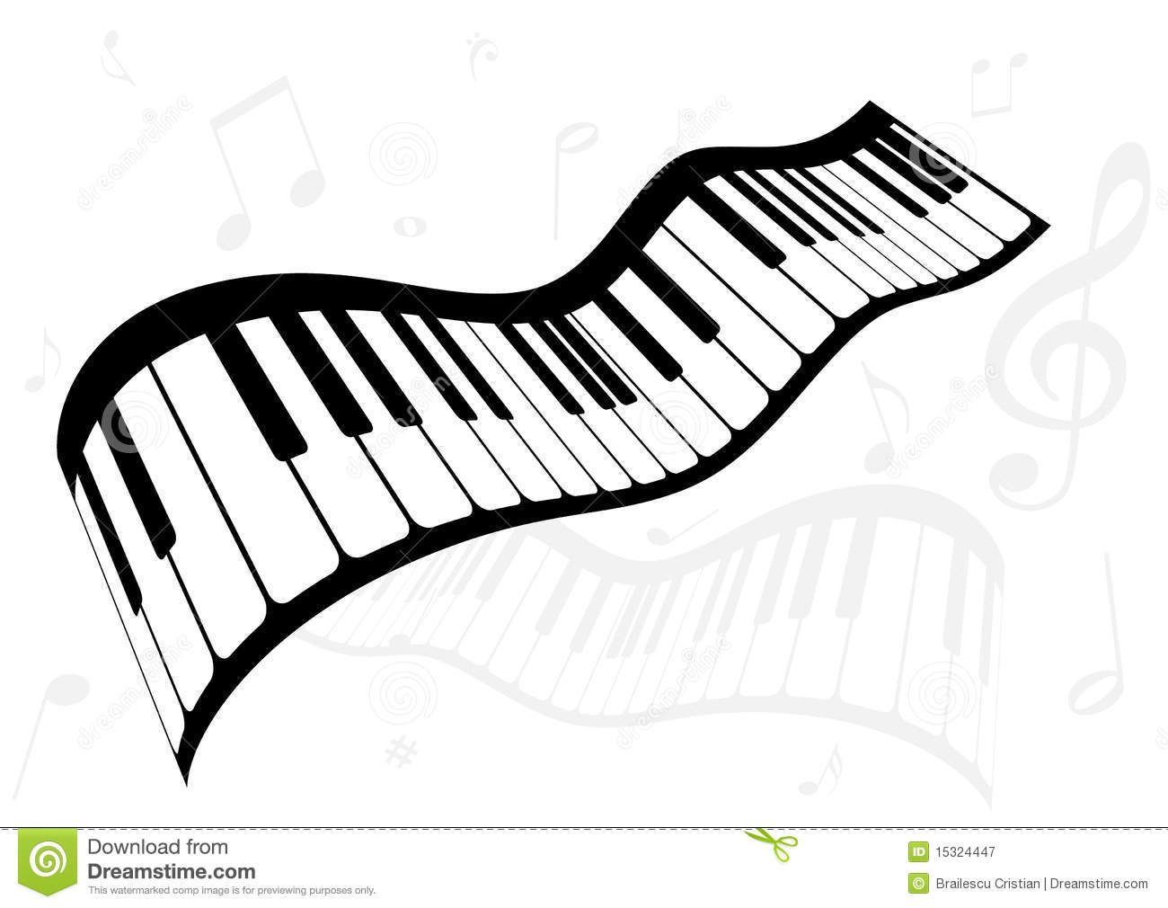 Illustration Of A Piano And Music Notes Royalty Free Stock