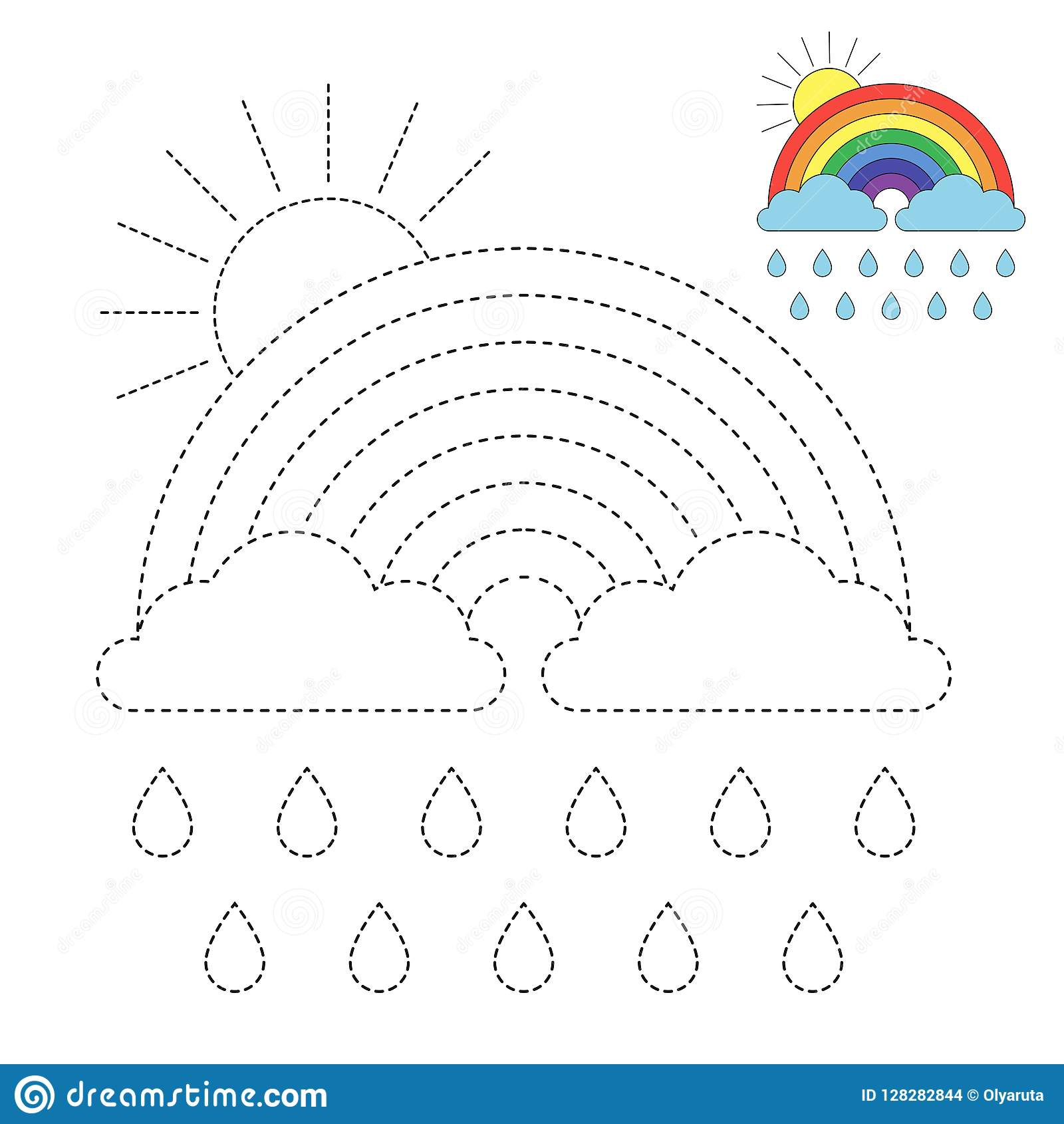 Rainbow Worksheets For Preschoolers
