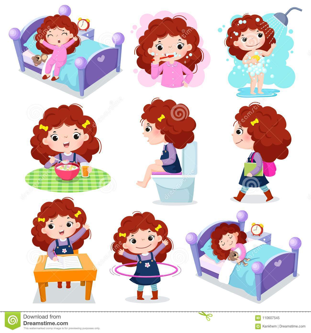 Daily Routine Daily Activities For Children