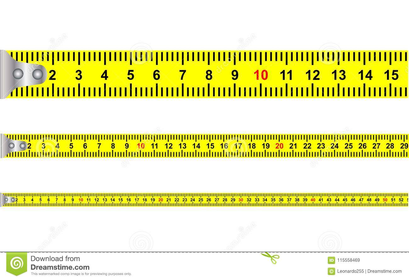 Illustration Of A Seamless Yellow Classic Tape Measure