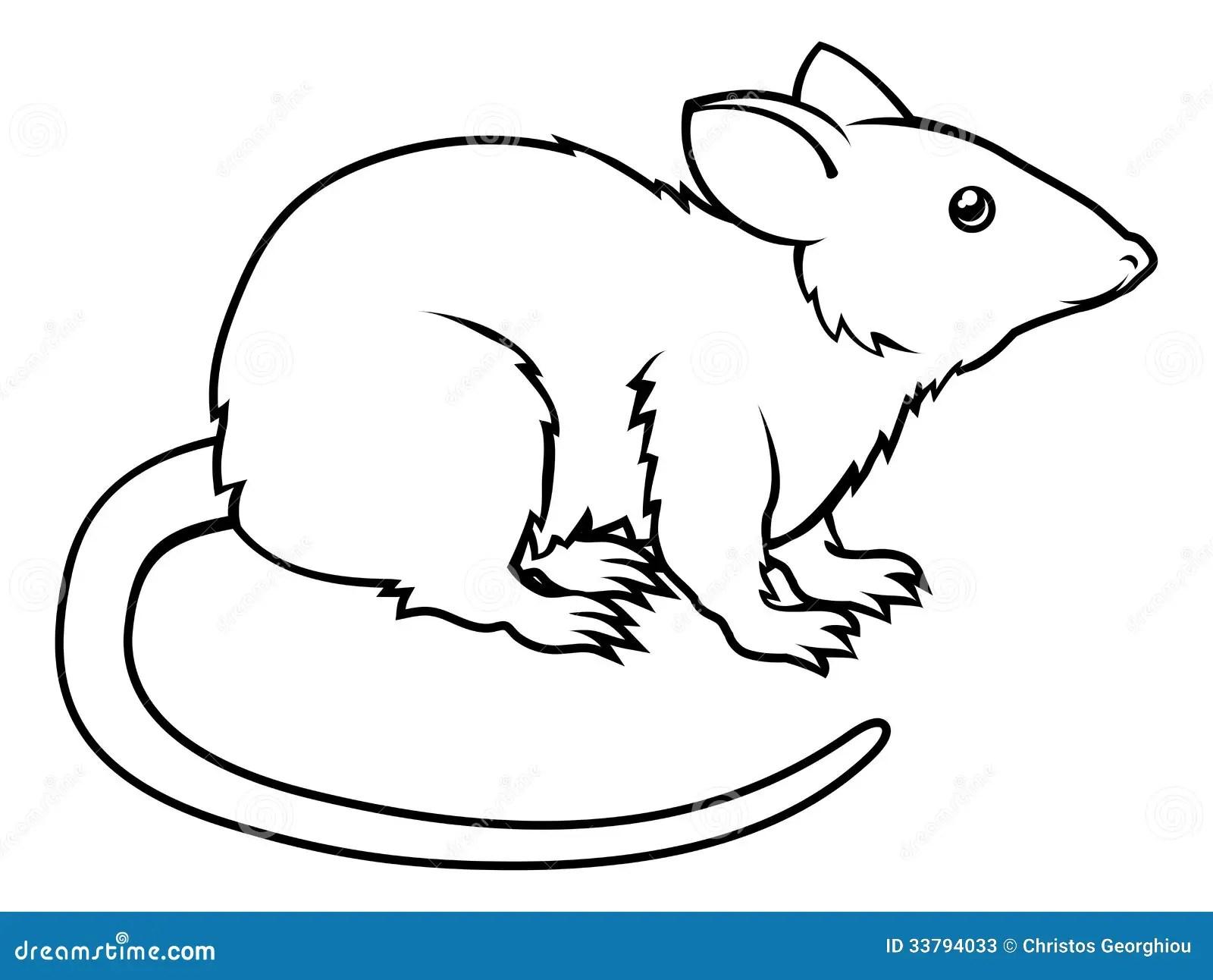 Illustration Stylisee De Rat Illustration De Vecteur