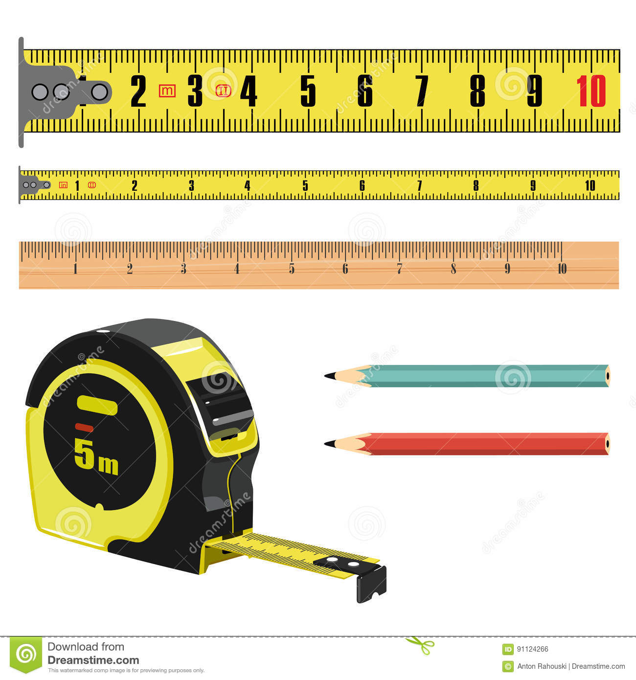 Illustration Tape Measure Length In Centimeters Building