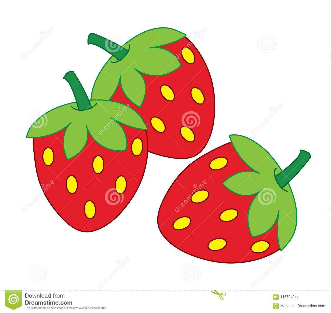 hight resolution of clipart of strawberries over white background
