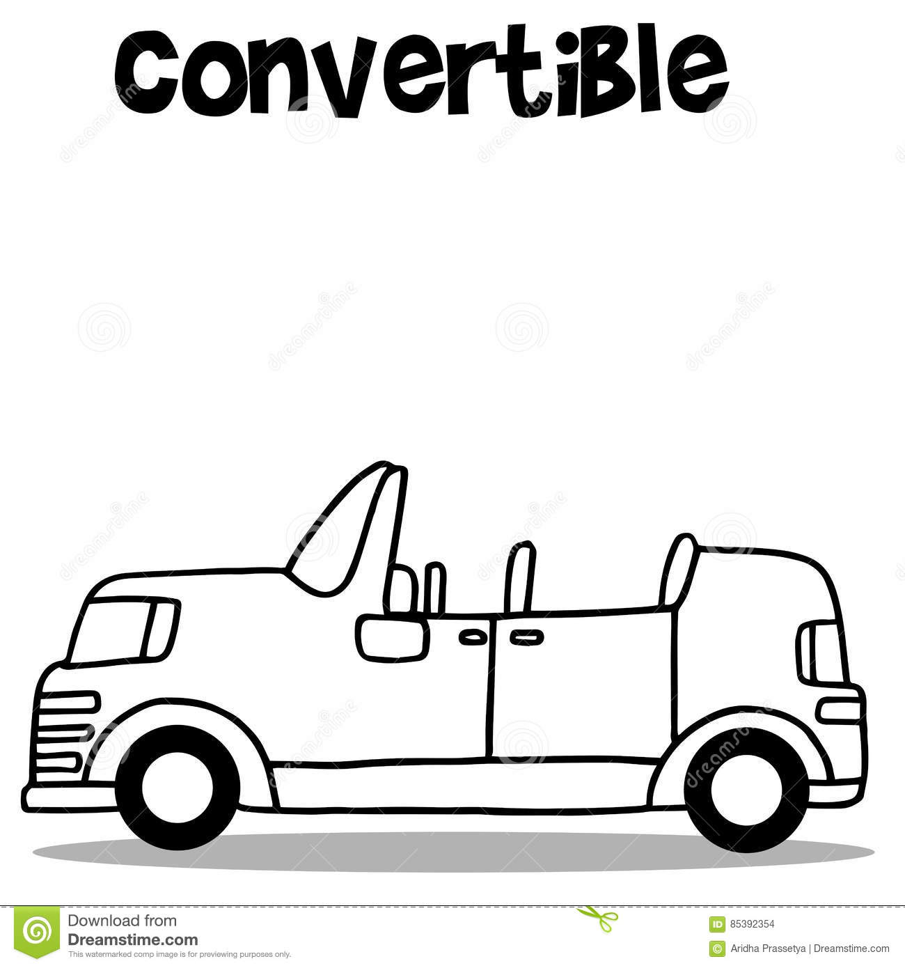 Illustration Vector Of Convertible Car Stock Vector