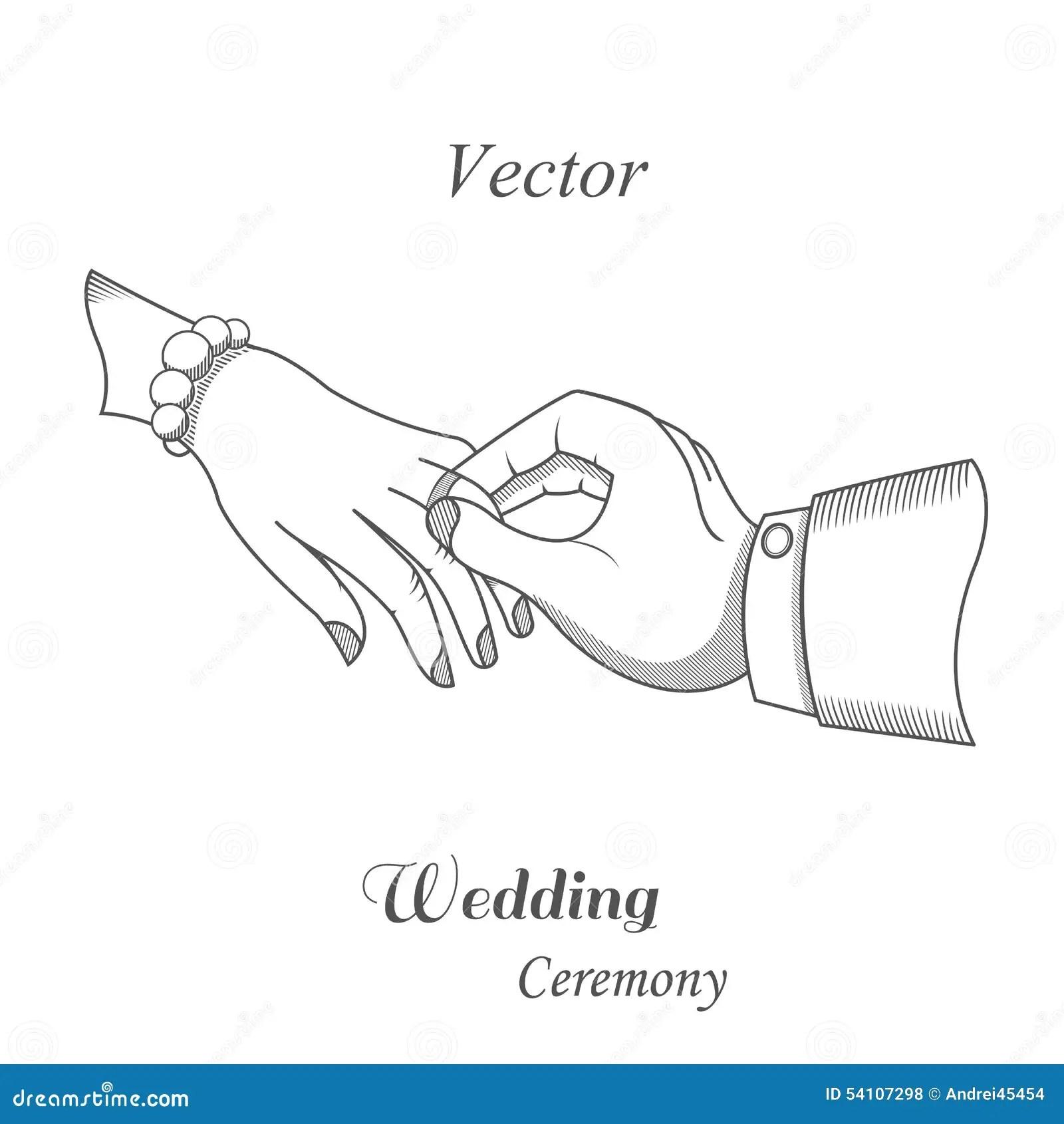 Illustration Of Wedding Ceremony Stock Illustration