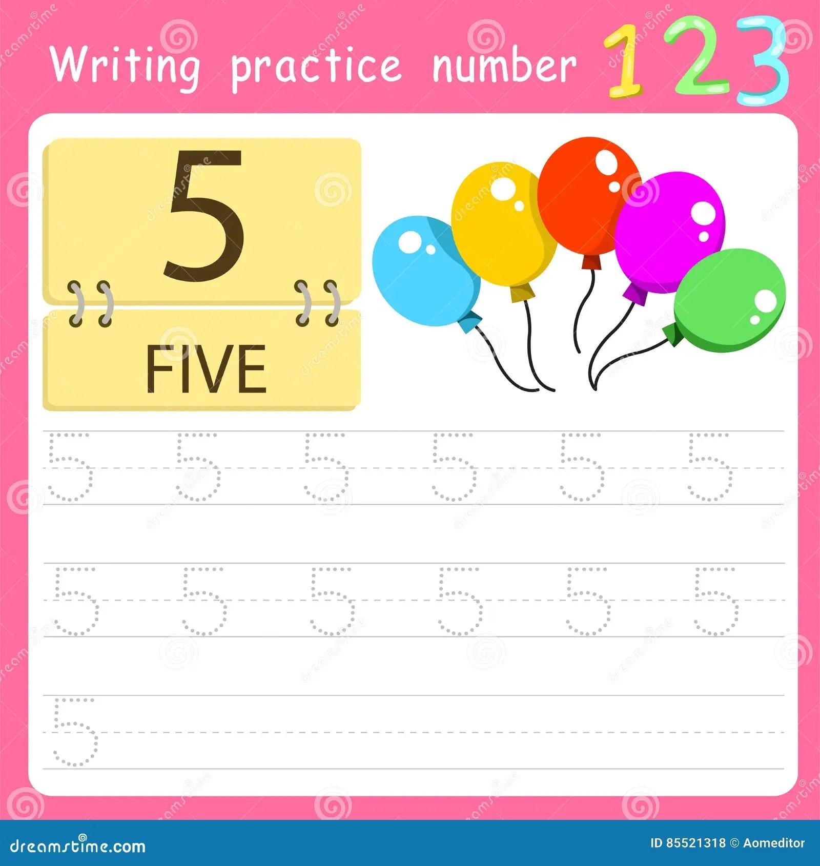 Illustrator Of Counting How Many Set Three Cartoon Vector
