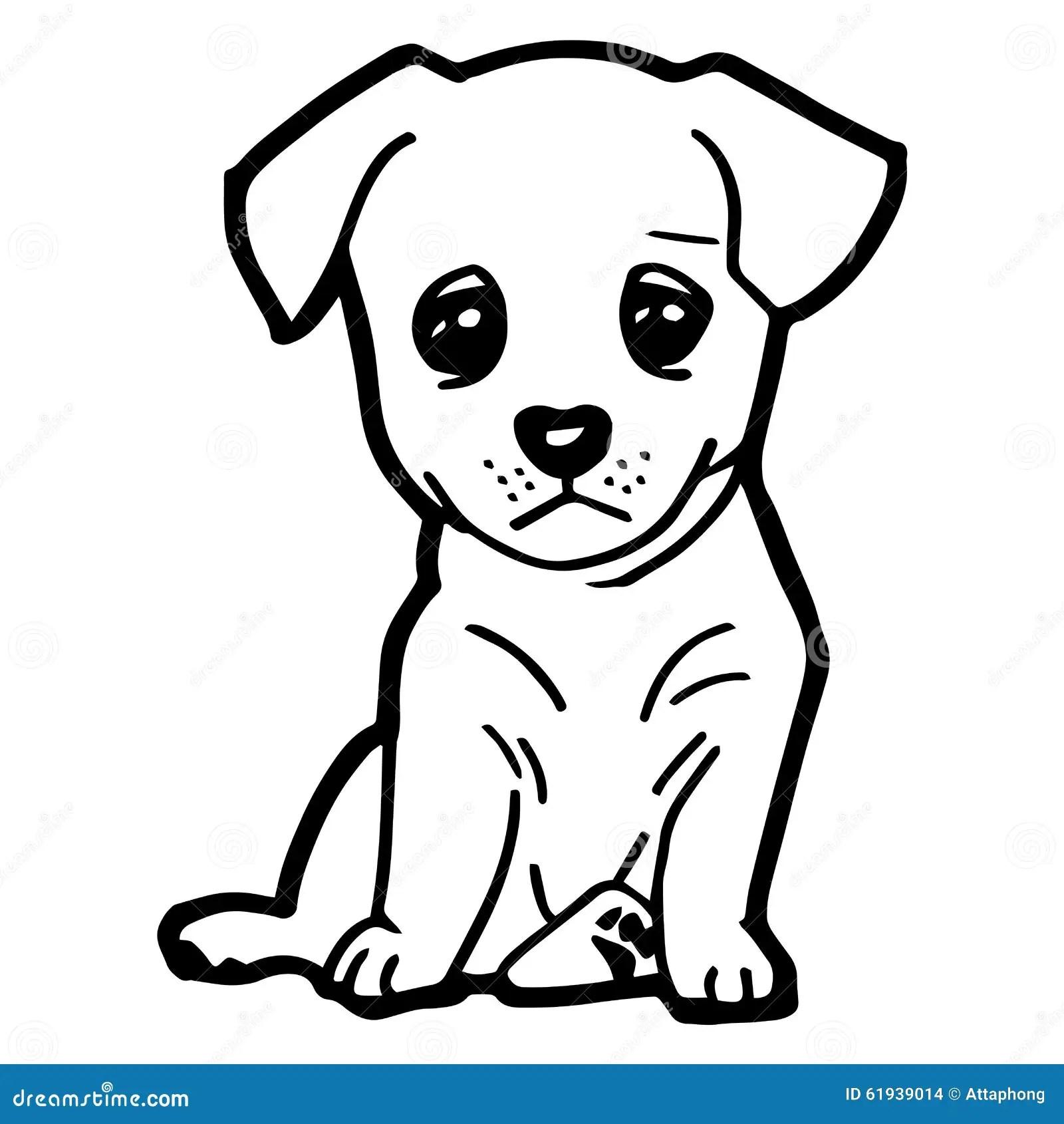 Illustrazione Del Fumetto Del Cane Divertente Per Il Libro