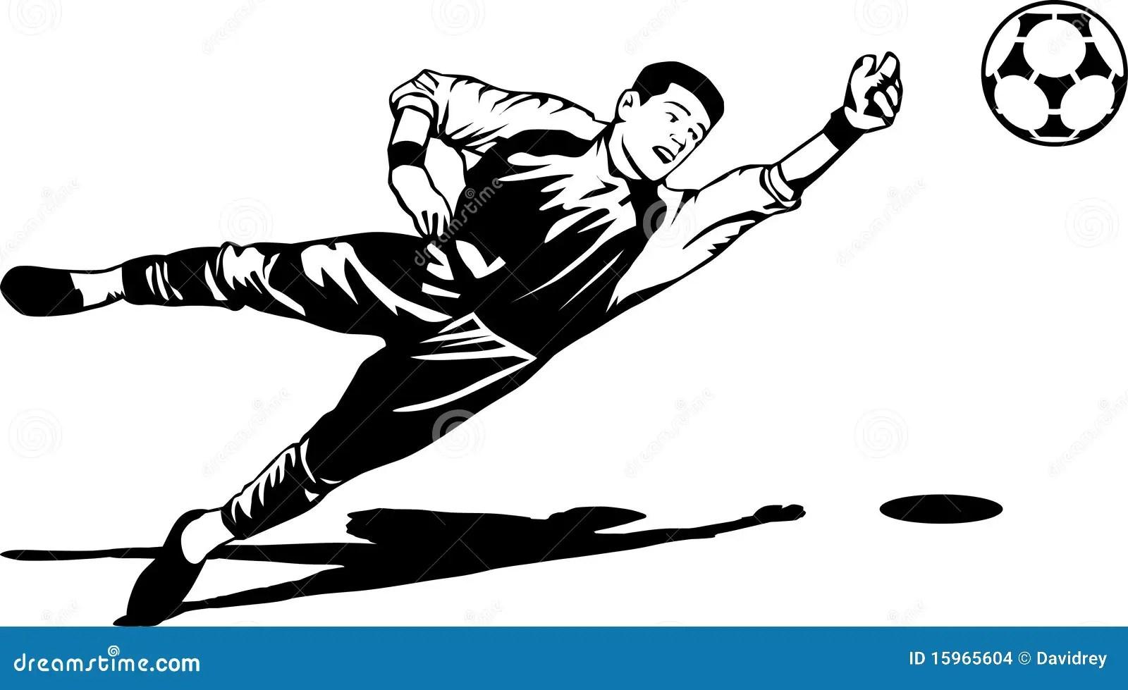 Illustrazione Del Portiere Di Calcio Illustrazione