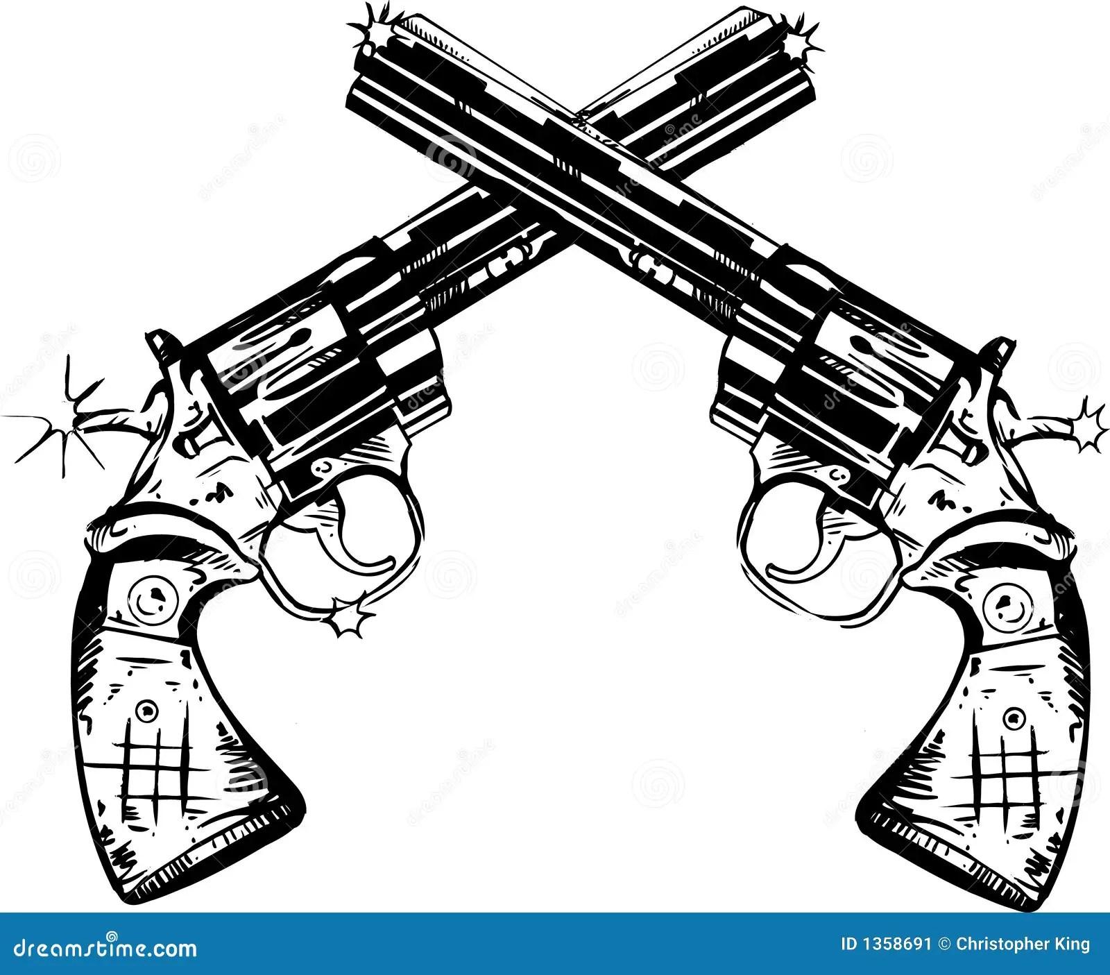 Illustrazione Delle Pistole Illustrazione Vettoriale