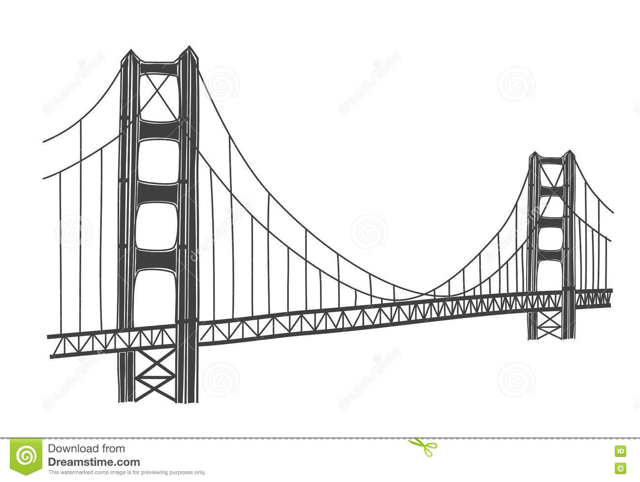 Illustrazione Di Golden Gate Bridge San Francisco