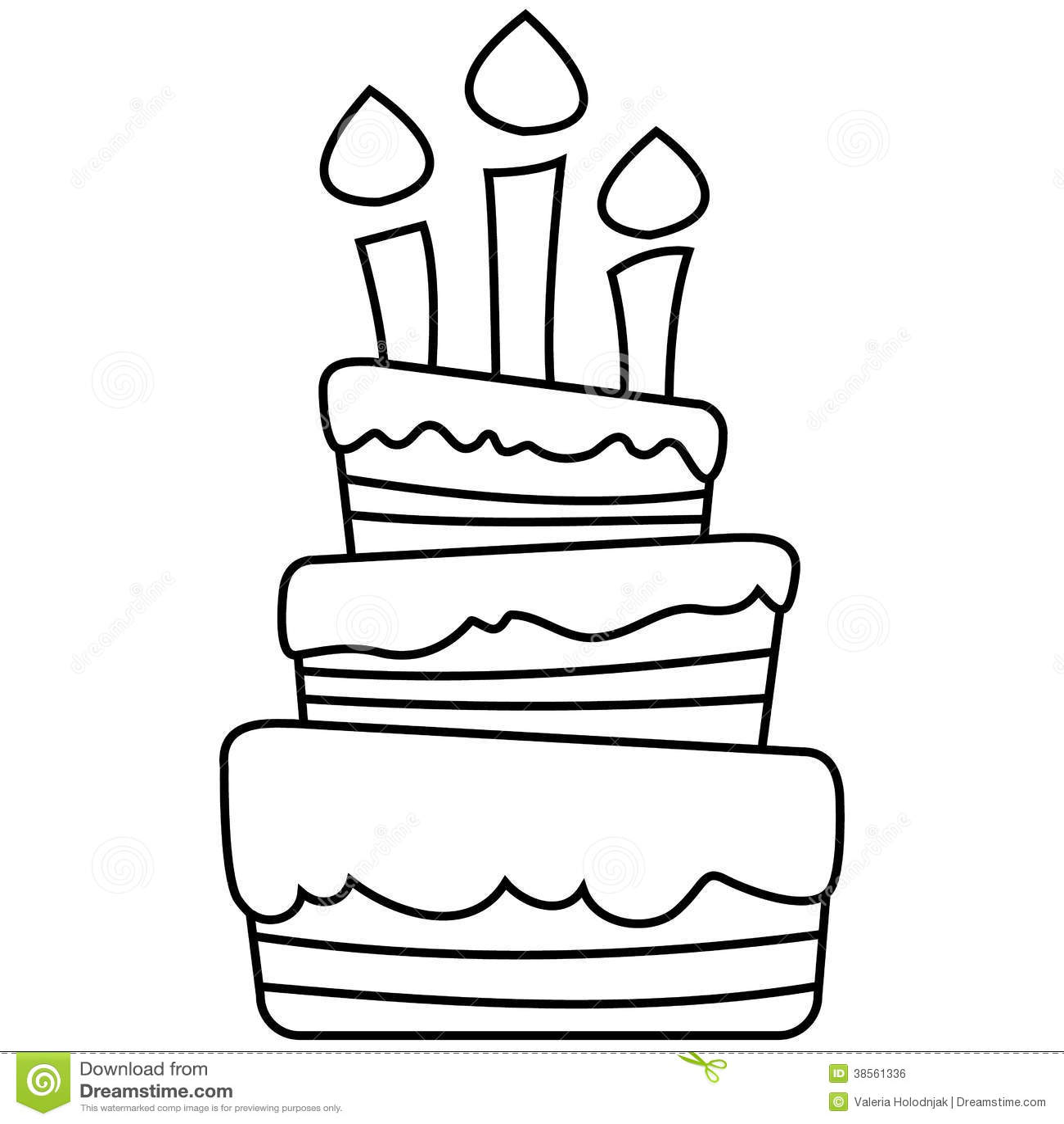 Illustrazione Di Vettore Della Torta Di Compleanno