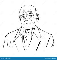 Illustrazione Disegnata A Mano Di Un Uomo Anziano Su Fondo