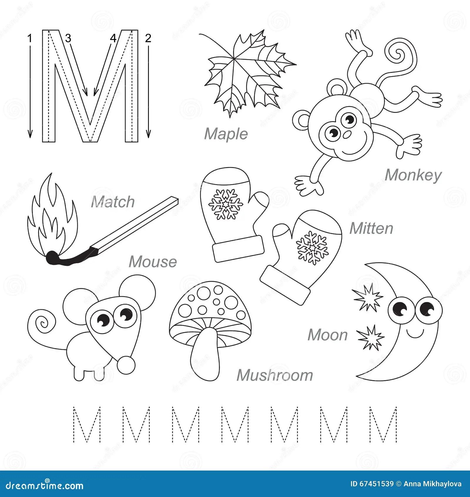 Imagenes Para La Letra M Stock De Ilustracion Ilustracion De Educacion