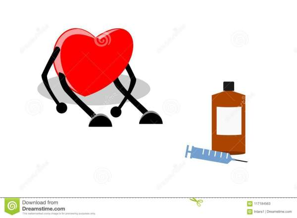 Cardiac Arrhythmia Cartoon Vector