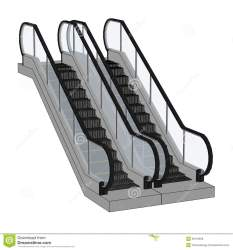 escalator stairs clipart cartoon illustration clip royalty preview mall clipground