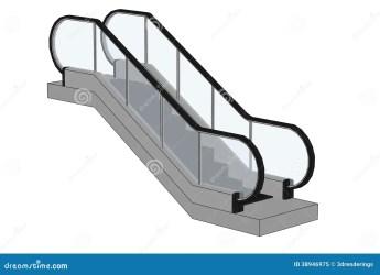 escalator stairs cartoon illustration