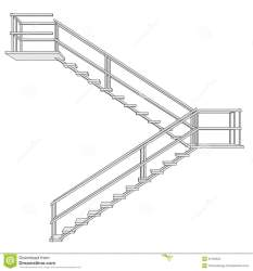 stairs structure cartoon