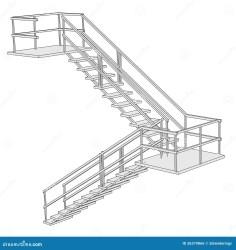 cartoon stairs structure bild trappa 3d struktur tecknad treppe av vector dna outline shutterstock illustrationer