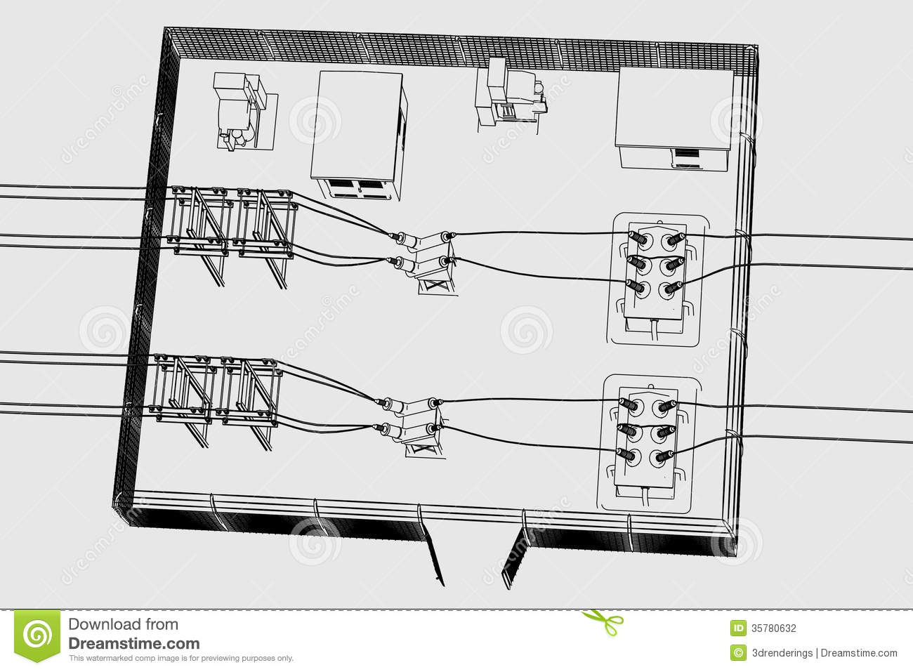 Image Of Substation Place Stock Photography