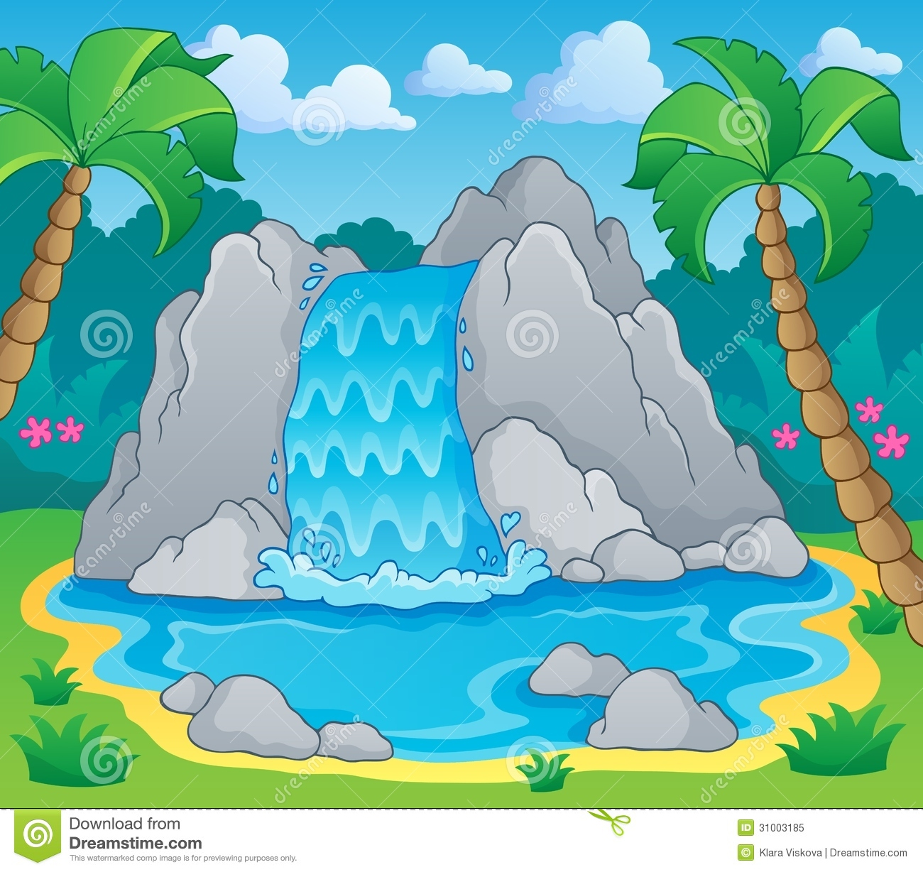 Image With Waterfall Theme 2 Royalty Free Stock Photo  Image 31003185