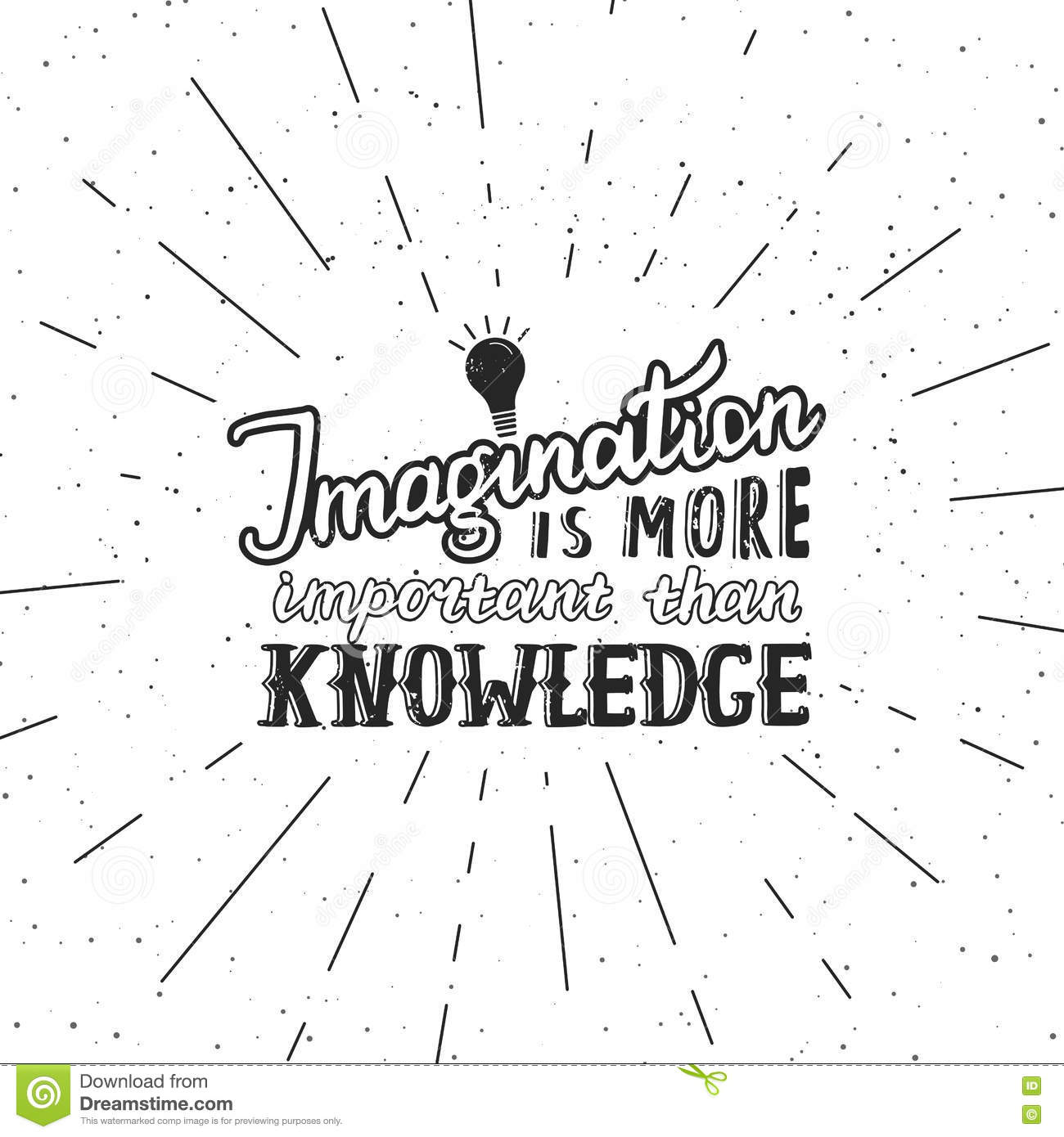 Imagination Is More Important Than Knowledge Royalty Free