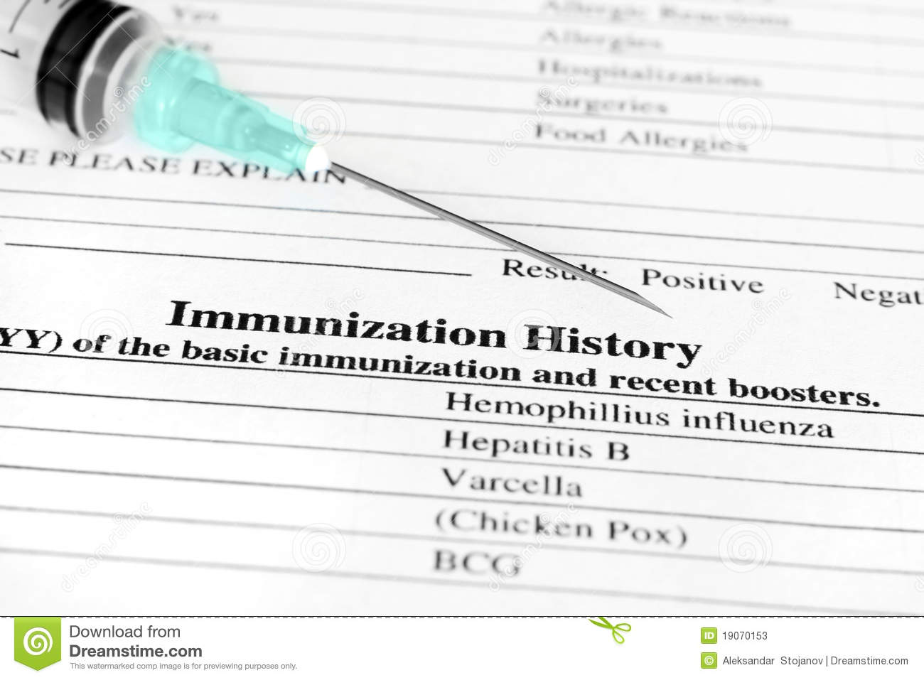 Immunization History Stock Photos