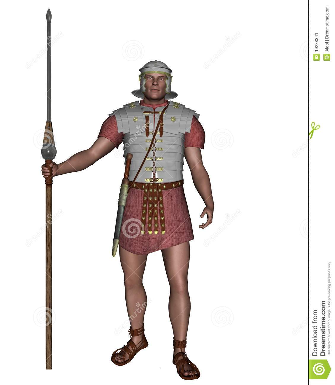Imperial Roman Legionary Sol R Stock Illustration