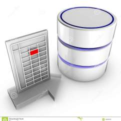 Database Architecture Diagram Intermatic Wiring Import Data Into A Stock Photo - Image: 16096590