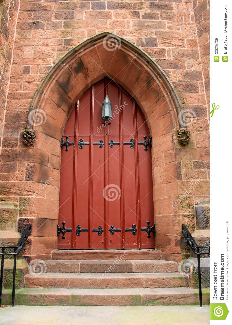 Imposing Detail Of Old Church Doors Stock Image  Image of