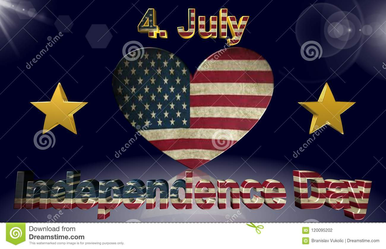 independence day american flag