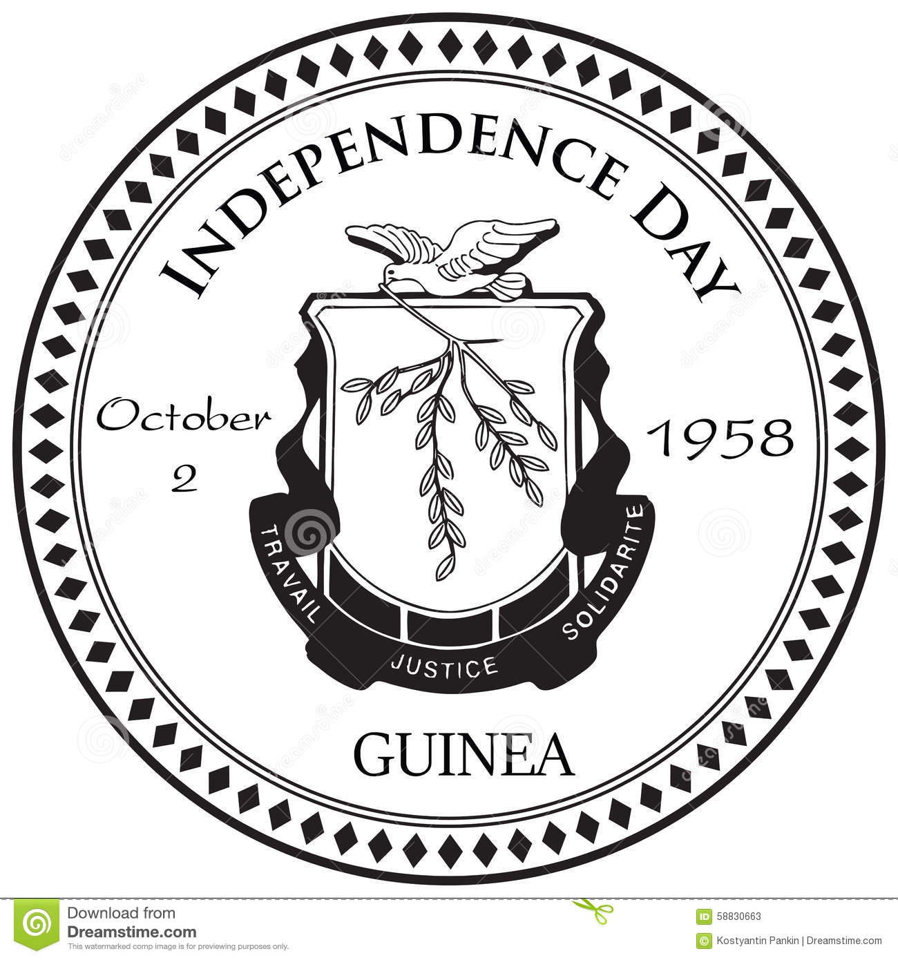 Independence Day Guinea Stock Vector