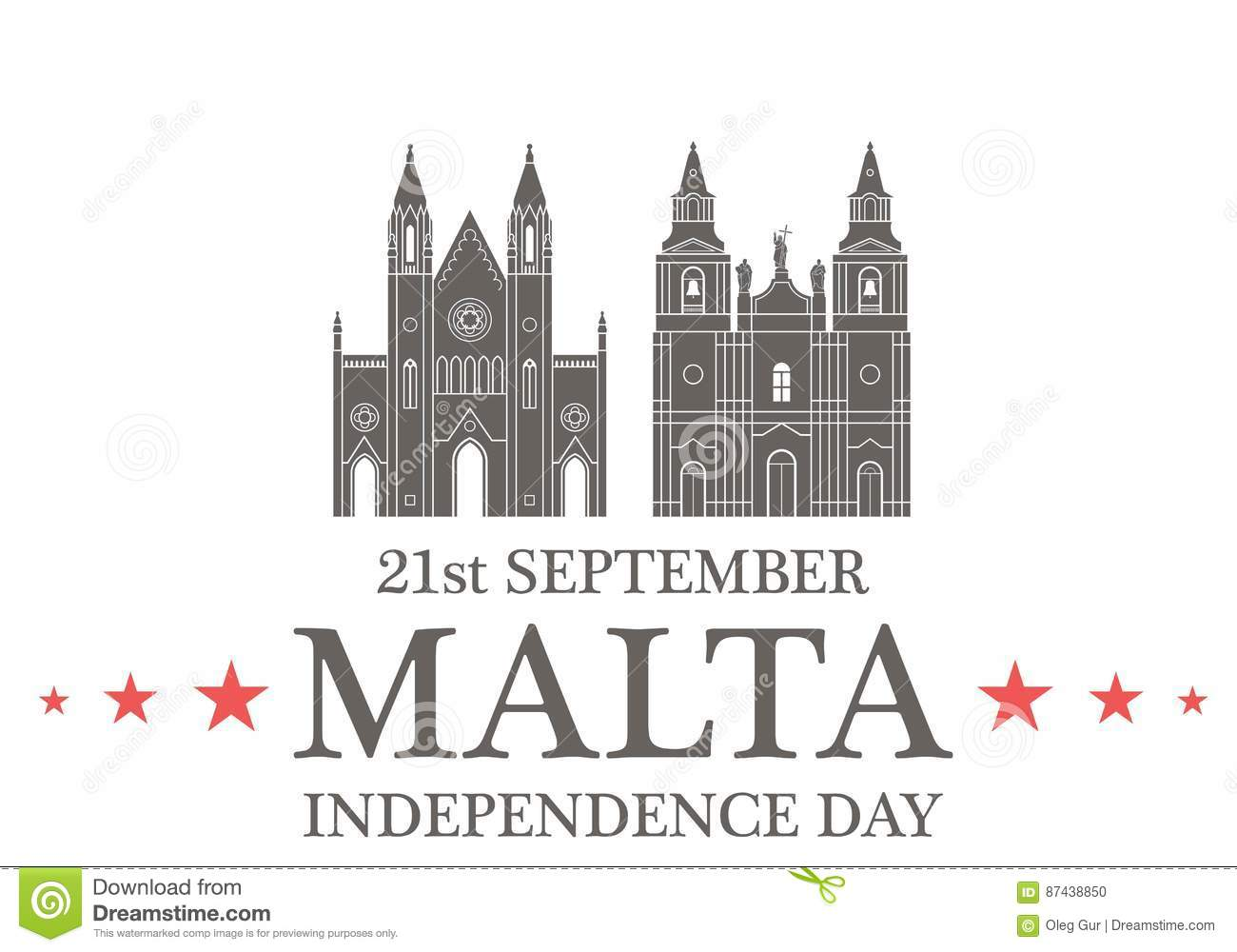 Independence Day. Malta Vector Illustration