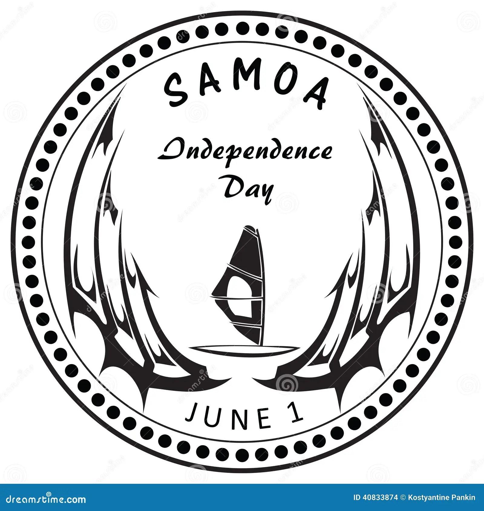 Independence Day Samoa Stock Illustration